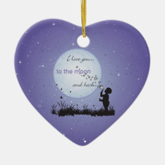 I Love You to the Moon and Back-Unique Gifts Ceramic Heart Decoration