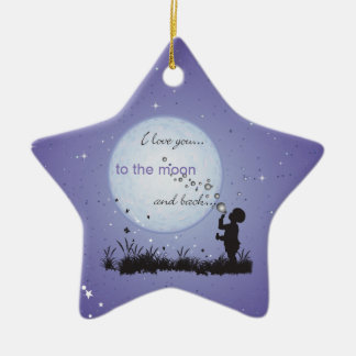 I Love You to the Moon and Back-Unique Gifts Ceramic Star Decoration