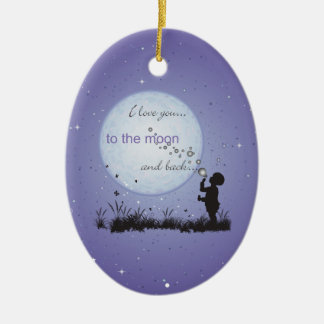 I Love You to the Moon and Back-Unique Gifts Christmas Ornament