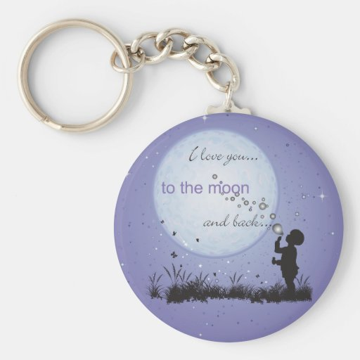 I Love You to the Moon and Back-Unique Gifts Keychain
