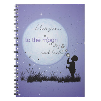I Love You to the Moon and Back-Unique Gifts Notebook
