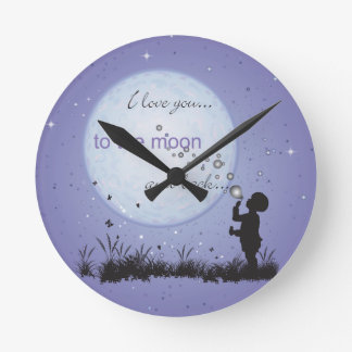 I Love You to the Moon and Back-Unique Gifts Round Clock