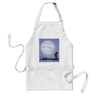 I Love You to the Moon and Back-Unique Gifts Standard Apron