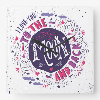 I Love You To The Moon And Back Wallclocks