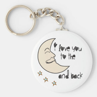 I love you to the moon and back whimsical key chains