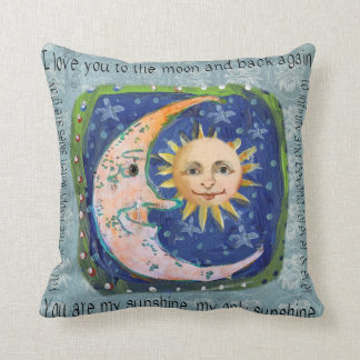 I Love You To The Moon & Back You Are My Sunshine Cushion