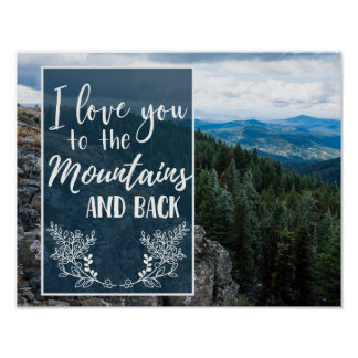 I Love You to the Mountains and Back Poster