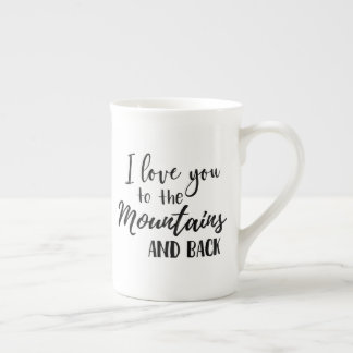 I Love You to the Mountains Back Mug (White)