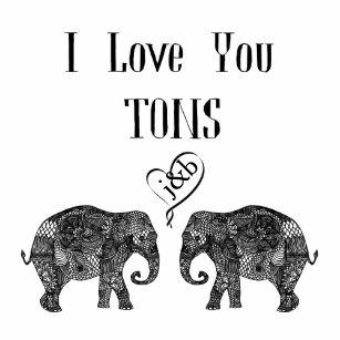 ab2e55be95 I LOVE YOU TONS/Elephant Art/Wedding Personalized Coffee Mug
