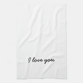 I love you towel. His and Hers - see other listing Tea Towel