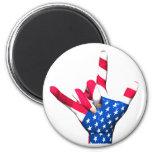 I Love You USA Flag Magnet