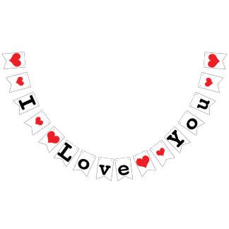 I LOVE YOU Valentine Wedding Decor Bunting