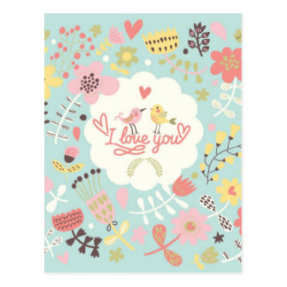 I Love You - Valentine's Day Card Postcard