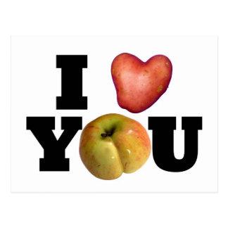 I LOVE YOU Valentine's Day Postcard 1