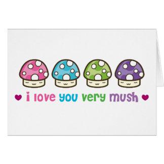 i love you very mush greeting card