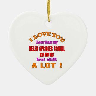 I love you Welsh Springer Spaniel Dog Ceramic Heart Decoration