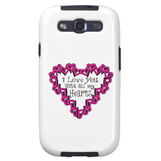 I Love You With All My Hearts Samsung Galaxy S3 Covers