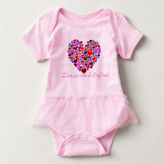 I love you with all of my heart baby bodysuit