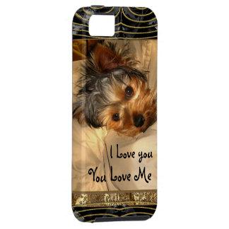 I Love You Yorkie Monogram iPhone 5 Case