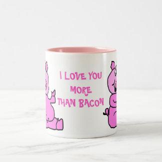 I Love Your More Than Bacon Pig Ceramic Mug