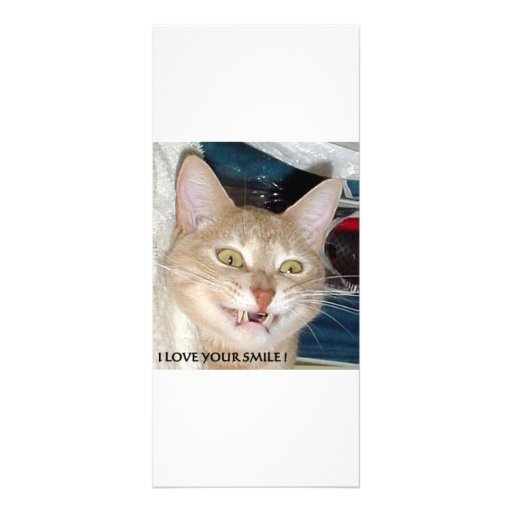 I LOVE YOUR SMILE PERSONALIZED RACK CARD
