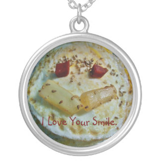 I Love Your Smile.txt Round Pendant Necklace
