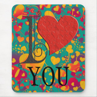 I LOVE ... your text Mousepads