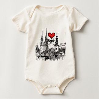 i love Zagreb Baby Bodysuit
