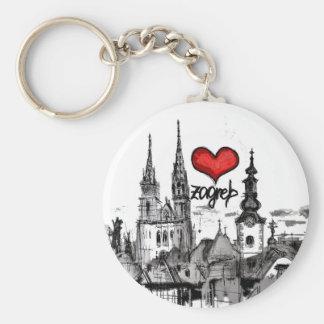 i love Zagreb Key Ring