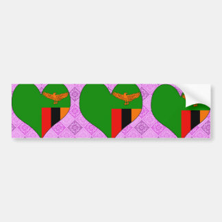 I Love Zambia Bumper Sticker