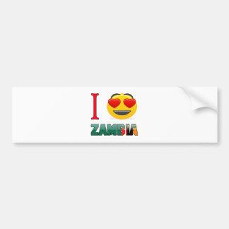 I love ZAMBIA. Bumper Sticker