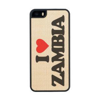I LOVE ZAMBIA CARVED® MAPLE iPhone 5 SLIM CASE