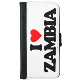 I LOVE ZAMBIA iPhone 6 WALLET CASE