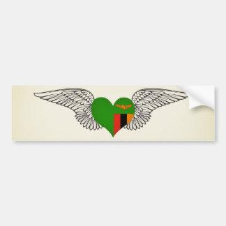 I Love Zambia -wings Bumper Stickers