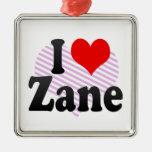 I love Zane Christmas Ornaments