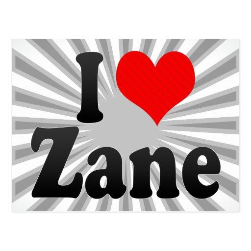 I love Zane Postcard