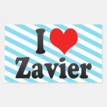 I love Zavier Stickers