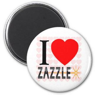 I Love Zazzle 6 Cm Round Magnet
