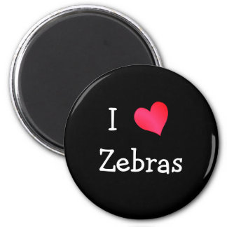 I Love Zebras Magnet