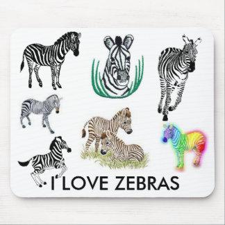 I Love Zebras Mousepad