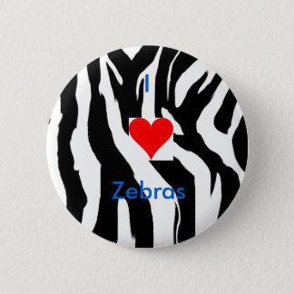 I Love Zebras Pin