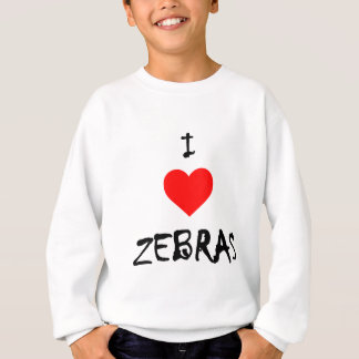 I Love Zebras Sweatshirt
