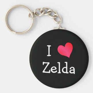 I Love Zelda Key Ring