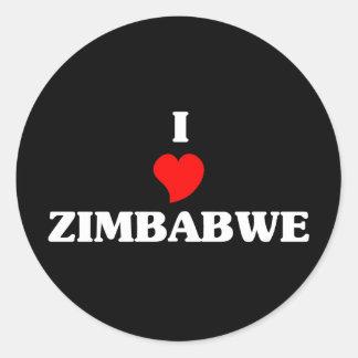 I Love Zimbabwe Classic Round Sticker