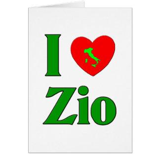 I Love Zio (Italian Uncle) Card