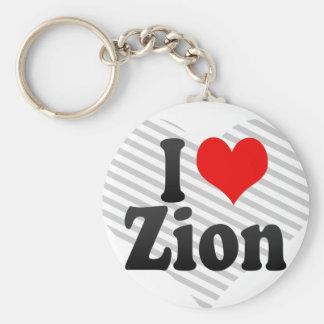 I love Zion Keychains