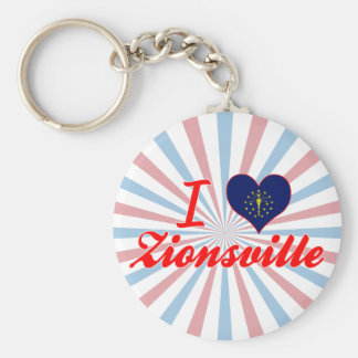 I Love Zionsville, Indiana Key Ring