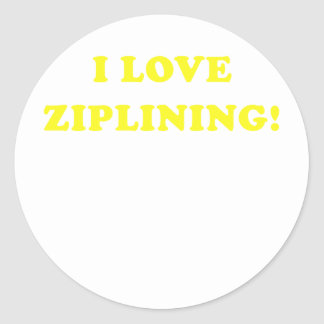 I Love Ziplining Round Sticker