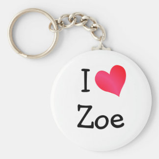 I Love Zoe Key Ring