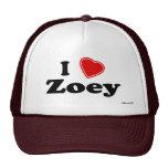I Love Zoey Hats